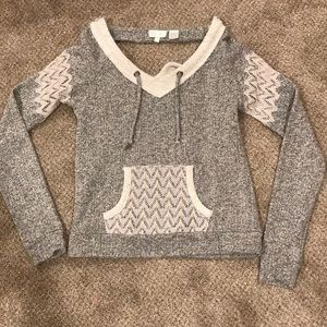 gray miss me sweater, size medium